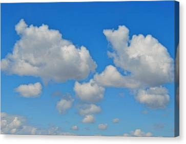 Canvas Print featuring the photograph Calgary's Sky by Evelina Popilian