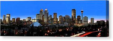 Calgarys Skyline Canvas Print by Richard Wear
