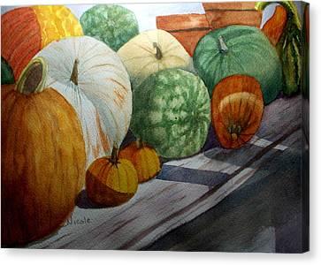 Calgo Pumpkins Canvas Print by Nicole Curreri