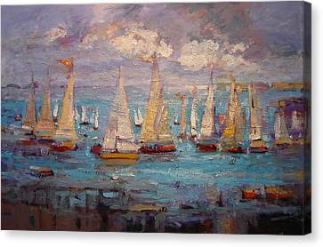 Cali Regatta Canvas Print by R W Goetting