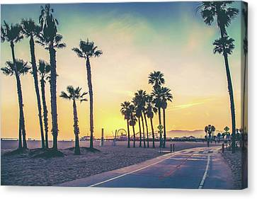 Cali Sunset Canvas Print by Az Jackson