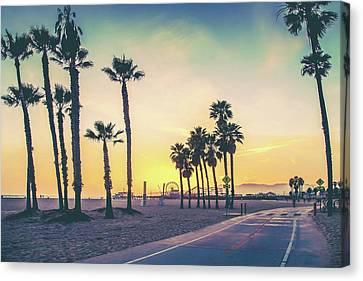 Cali Sunset Canvas Print by Az Jackson