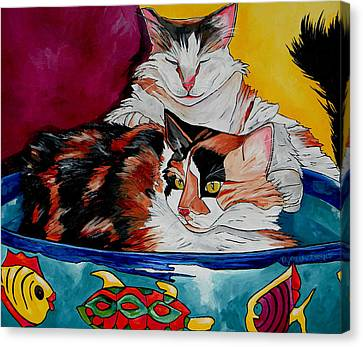 Veterinarian Art Canvas Print - Calico And Et by Patti Schermerhorn