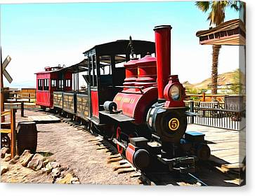 Calico And Odessa Rail Road Canvas Print by Barbara Snyder