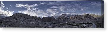Calico Basin Panorama Canvas Print