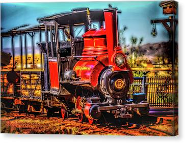 Calico Beautiful Red Train Canvas Print by Garry Gay