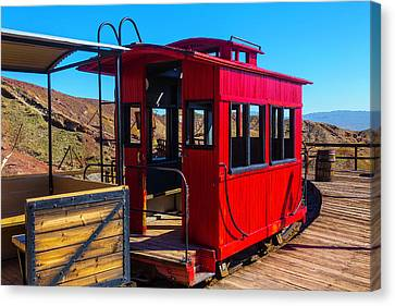 Calico Caboose Canvas Print by Garry Gay