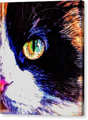 Calico Cat Canvas Print by Kathy Kelly