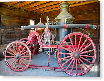 Calico Ghost Town Fire Engine Canvas Print by Barbara Snyder