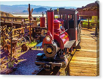 Calico Ghost Town Train Canvas Print by Garry Gay