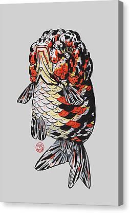 Calico Kirin Ranchu Canvas Print by Shih Chang Yang