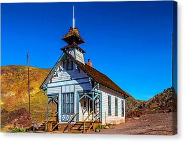 Calico School House Canvas Print by Garry Gay