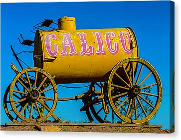 Calico Water Wagon Canvas Print by Garry Gay