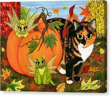 Calico's Mystical Pumpkin Canvas Print
