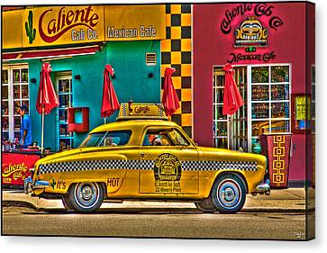 Caliente Cab Co Canvas Print by Chris Lord