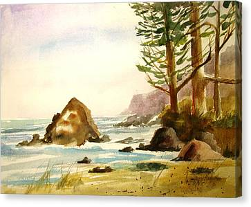 California Coast Canvas Print by Larry Hamilton