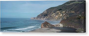Pch Canvas Print - California Coast Panorama by Steve Gadomski