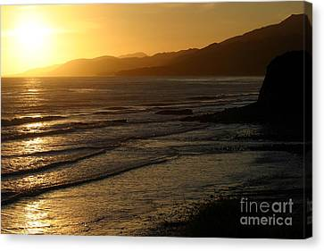 California Coast Sunset Canvas Print by Balanced Art