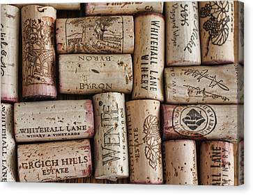 California Corks Canvas Print by Nancy Ingersoll