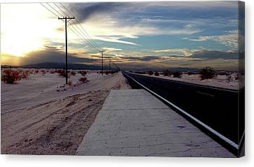 California Desert Highway Canvas Print by Christopher Woods