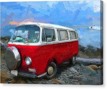 Pch Canvas Print - California Dreamin Red by Ron Regalado
