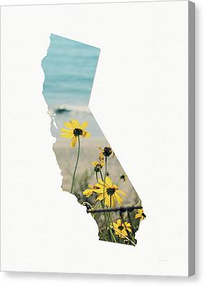 Canvas Print featuring the mixed media California Dreams Art By Linda Woods by Linda Woods
