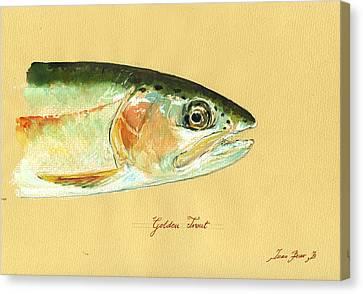 California Golden Trout Canvas Print by Juan  Bosco