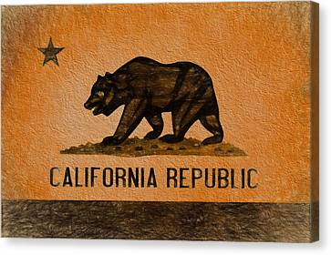 California Grunge Flag Canvas Print by Dan Sproul