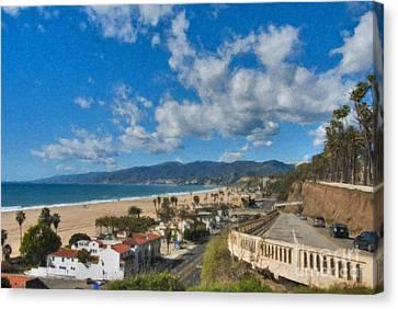 California Incline Palisades Park Ca Canvas Print by David Zanzinger