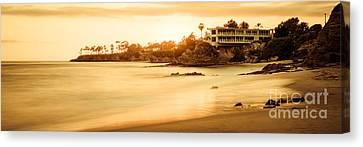 California Laguna Beach Sunset Panorama Photo Canvas Print by Paul Velgos