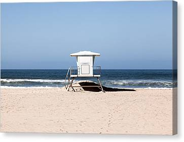 California Lifeguard Tower Photo Canvas Print by Paul Velgos
