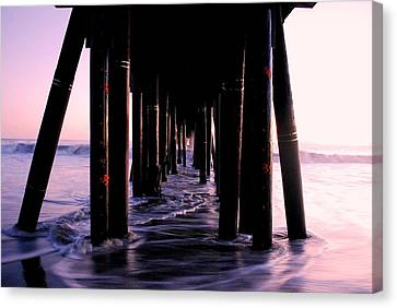 California Pier At Sunset Canvas Print