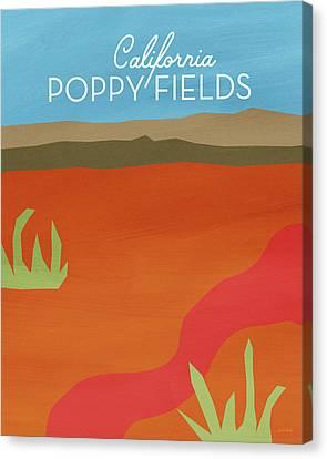 California Poppy Fields- Art By Linda Woods Canvas Print