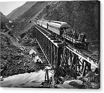 California: Railroad, 1869 Canvas Print by Granger