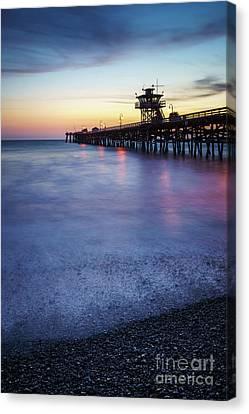 San Clemente Canvas Print - California San Clemente Pier At Sunset Picture by Paul Velgos