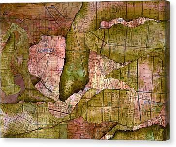 California Splatter Map - Socal Canvas Print