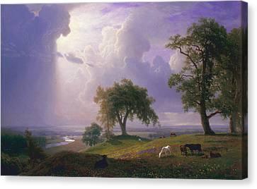 California Spring Canvas Print by Albert Bierstadt