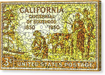 Old Canvas Print - California Statehood Centennial by Lanjee Chee