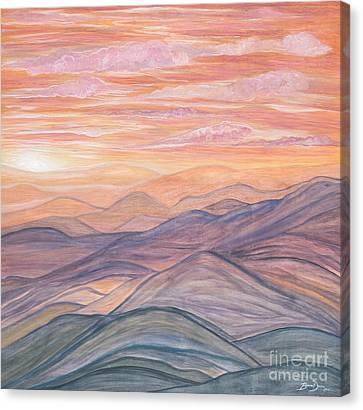 California Sunrise Canvas Print by Barbara Donovan