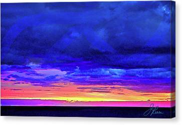 Canvas Print featuring the painting California Sunrise by Joan Reese