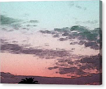 California Sunset - 1 Canvas Print by Sally Stevens