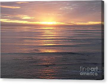 Canvas Print featuring the photograph California Sunset by Carol  Bradley