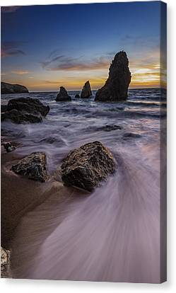 California Sunset On Rodeo Beach Canvas Print by Rick Berk