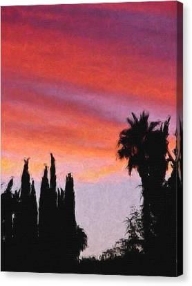 California Sunset Painting 3 Canvas Print by Teresa Mucha