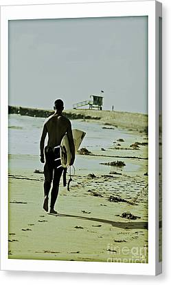 California Surfer Canvas Print by Scott Pellegrin