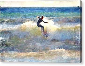 California Surfing Canvas Print by Danuta Bennett