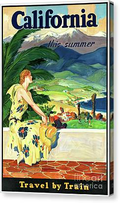 California This Summer Restored Vintage Poster Canvas Print by Carsten Reisinger