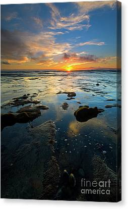 California Tidepool Sunset Canvas Print