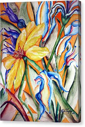 California Wildflowers Series I Canvas Print by Lil Taylor