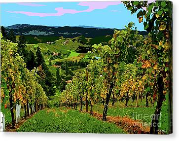 California Wine Country Canvas Print by Thomas Pollart